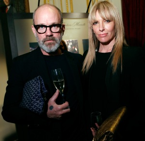 Musician Michael Stipe and actress Toni Collette attend Acqua di Parma gala event with Roberto Bolle; Photo: Getty Images for Acqua di Parma
