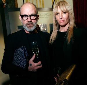Musician Michael Stipe and actress Toni Collette attend Acqua di Parma gala event with Roberto Bolle; Photo: Getty Images for Acqua di Parma