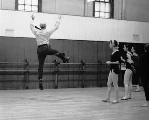 The master - Antony Tudor at 53 years old, teaching class at the Old Met, 1961