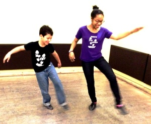 Andrei and Sophia Stewart-Chapman rehearse in-studio